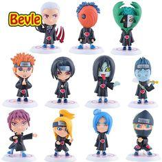 Bevle Naruto Uzumaki Uchiha Sasuke Ninja Village 11Pcs/lot Model Kit PVC Action Figure Japanese Anime Doll Collection Decoration //Price: $US $20.35 & FREE Shipping //     #clknetwork