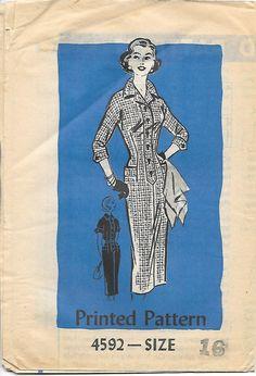 1950s Shirtwaist Wiggle Dress Mail Order by GrandmaMadeWithLove