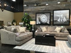 Imagine all of the design possibilities with this oversized, neutral living room set! A soft gray fabric stretches over a sturdy frame, making this set both comfortable and durable. Create a style that reflects your personality with this sofa and loveseat as your canvas! Shop this look at our 6006 N. Freeway GF location TODAY! | Houston TX | Gallery Furniture |