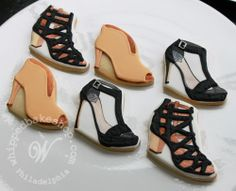 Hand-painted shoe cookies sent as a gift to Vince Camuto by Zoë Lukas @Whipped Bakeshop.com