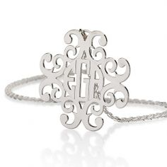 Filigree Silver Monogram Necklace - now 20% off! (limited offer, ends May 11th - applied at checkout)