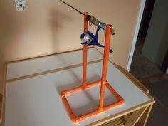PVC tip-down rod holder