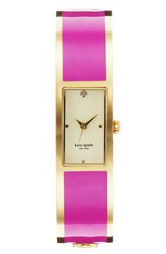 kate spade new york 'carousel' bangle watch Gold/ Pink One Size