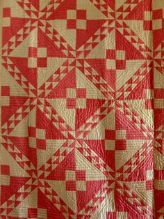Vintage 1930s Sateen Linton Pathway Variation Quilt | eBay