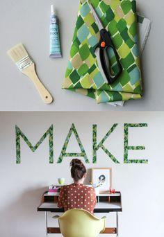Decora tu pared con tipografías en tela