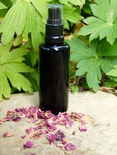 Natural Face Cleanser using jojoba, castor and essential oils only. put a few squirts on a damp warm cloth and massage in.