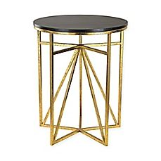 image of Sterling Industries Geometric Side Table in Gold
