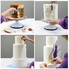 Step-By-Step Geode Cake