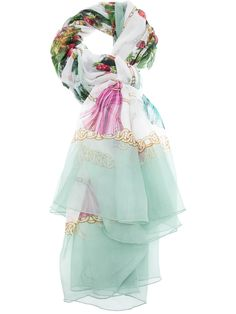 Dolce & Gabbana Printed Silk Scarf in Multicolor