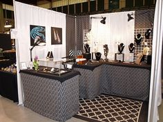 diy craft show displays | Craft Show Displays / DIY walls with pvc-this booth is modern and gorgeous