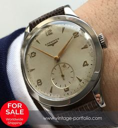 Vintage Oversize Jumbo Longines Steel Watch - Calatrava #longines #longineswatches #luxurywatch