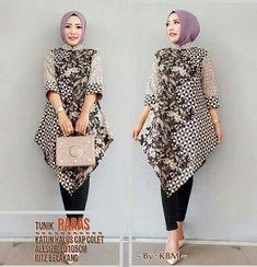 Model Batik Kerja Wanita Muslimah Batik Blazer, Blouse Batik, Batik Dress, African Fashion Dresses, African Dress, Batik Muslim, Mode Batik, Curvy Outfits, Fashion Outfits