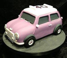 Mini Cooper cake this looks awesome.