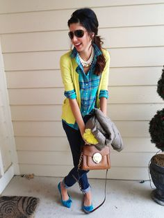 Top: Jcrew  Sweater: BCBGMAXAZRIA  Jewelry: Kate Spade, Forever21  Shoes: Steve Madden  Bag: Michael by Michael Kors