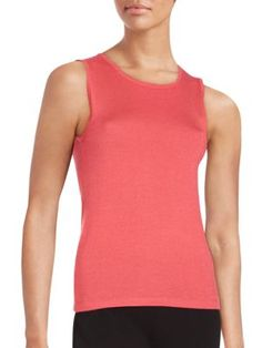 OSCAR DE LA RENTA Silk Blend Tank Top. #oscardelarenta #cloth #top