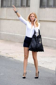 I want Blake Lively's hair and legs!