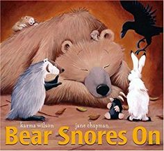 Buy a cheap copy of Bear Snores On book by Karma Wilson. On a cold windy night, an itty-bitty mouse pitter-pat, tip-toe, creep-crawls into a sleeping bears cozy lair, looking for relief from the bitter winter weather. ... Free shipping over $10.
