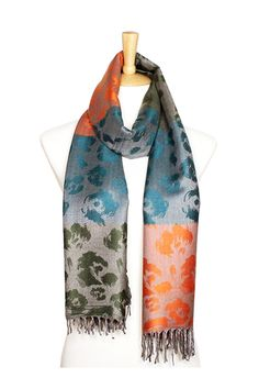 Rosalie Pashmina Scarf in Teal Sunset