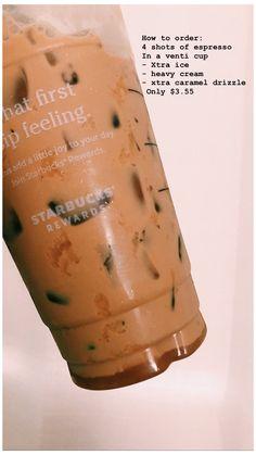 Starbucks Hacks, Bebidas Do Starbucks, Healthy Starbucks Drinks, Starbucks Secret Menu Drinks, Starbucks Iced Coffee, Yummy Drinks, Starbucks Order, Healthy Iced Coffee, Frappuccino