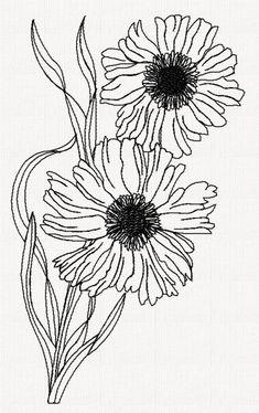 scabiosa-flower-redwork-embroidery