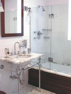 Pages and pages of subway tile in bathroom ideas
