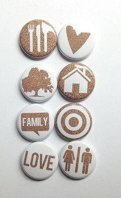 Cork 2 Flair by aflairforbuttons on Etsy, $6.00 #aflairforbuttons #cork
