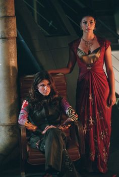 Kaylee and Inara from Firefly. Julia and I could so pull this off...