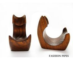 New Wooden Pipe Stand Rack Holder for Tobacco Pipe - Smoking Pipe. Handcrafted. $7.95, via Etsy.