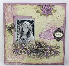 Heartfelt Creations | Butterflies And Posies Layout