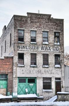 The abandoned Windsor Wax Building has been a landmark of Hoboken, New Jersey since the company was established in 1923.