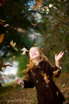"Reminds me of when my sister sent a big box of fall leaves to my Florida classroom, and the kids threw them up in the air at recess shouting, ""Happy new year! Bonheur Simple, Autumn Photography, Fall Photos, Fall Pics, Fall Pictures, Random Pictures, Amazing Pictures, Poses, Happy Fall"