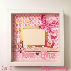Χειροποίητη #κορνίζα με χαρούμενα μοτίβα για τις μικρές κυρίες! Ρομαντικά λουλουδάκια και χρυσες, ροζ πεταλούδες! Ιδανική για κοριτσάκια από 5 ετών! Προσωποποιημενη με το όνομα που θέλετε! ➡Για παραγγελία, στείλτε μου 💌εμαιλ τον κωδικό που αναγράφεται στη φωτογραφία! 📸 🚚 Αποστολή σε όλη την Ελλάδα. #ευτυχια #χειροποίητα #δώρα #προσωποποιημενο #μωρακια #παιδί #κορίτσι #παιδικόδωμάτιο Girly, Frame, Home Decor, Women's, Picture Frame, Decoration Home, Girly Girl, Room Decor, Frames