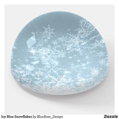 Icy Blue Snowflakes Paperweight Etsy Handmade, Handmade Items, Decoration Piece, Photo Quality, Christmas Card Holders, Different Shapes, Paper Weights, All Print, Thoughtful Gifts