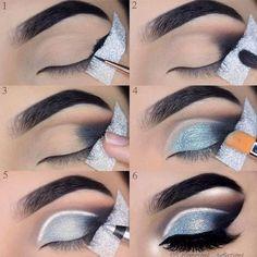 Smokey Eye Makeup Tips In Hindi it is Glitter Sm. Smokey Eye Makeup Tips In Hindi it is Glitter Sm , Eye Makeup Steps, Smokey Eye Makeup, Eyeshadow Makeup, Lip Makeup, Makeup Brushes, Eyeshadow Palette, How To Do Eyeshadow, How To Do Eyeliner, Yellow Eyeshadow