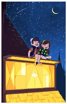 Dipper Pines,Mabel Pines<<<am I the only one that sees Bill in the window??