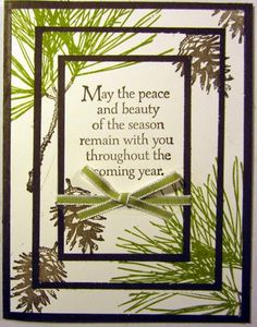 Maria used the Triple Stamping Technique on her Ornamental Pine card. All supplies from Stampin' Up!