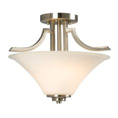 Shop Galaxy Franklin Brushed Nickel x x Semi-Flush Mount at Lowe's Canada online store. Find Semi-Flush Mount Lights at lowest price guarantee. White Light Bulbs, Light Bulb Bases, Semi Flush Ceiling Lights, Flush Mount Lighting, Galaxy Lights, Incandescent Light Bulb, Glass Diffuser, Lowes Home Improvements, Frosted Glass