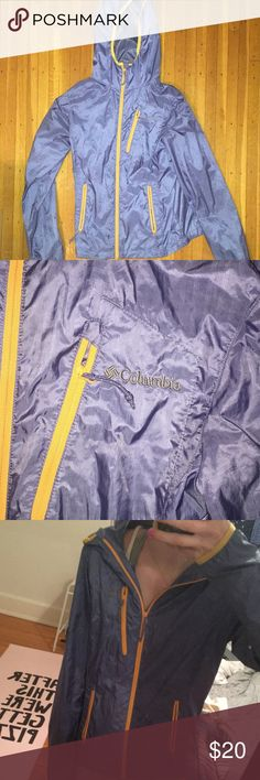 NWOT columbia rain/running jacket windbreaker never been used! this jacket is awesome, just ended up not needing it after i bought it. i usually wear an xs-s and i find this fits great, especially if it's a cold rainy day and you wanted to put a long sleeve later or two on. great deal!! Columbia Jackets & Coats