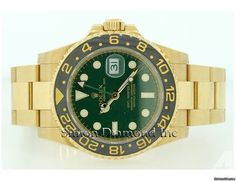 Rolex GMT Master II 116718 Yellow Gold Green Dial