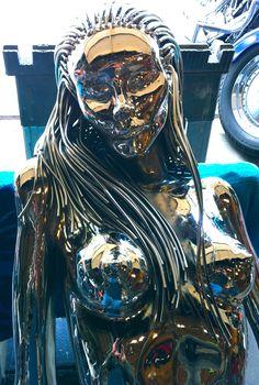 Evolution of Eve series figure 5 life size steel sculpture. Conceived and built by Artist Sculptor Greg Coffelt. Steel Sculpture, Sculpture Art, Pop Art Drawing, Cyberpunk Art, Sand Art, Human Art, Robot Art, Dark Fantasy Art, Lovers Art