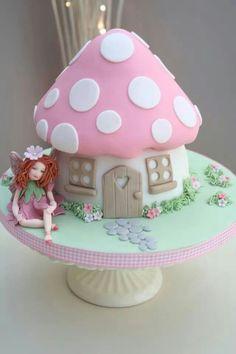 Beautiful Image of Fairy Birthday Cake . Fairy Birthday Cake Fairy Toadstool Cake Part Of Our Enchanted Garden Range Fairy Garden Cake, Garden Cakes, Fairy Cakes, Fairy House Cake, Fairy Birthday Cake, Birthday Cake Girls, Castle Birthday Cakes, Cupcake Birthday Cake, Rose Cupcake