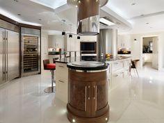 luxury shaker style walnut kitchen - http://www.davonport