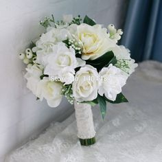 Aliexpress.com : Buy White Gardenia Rose Artificial Vintage Wedding Bouquets Brooch Bouquets Wedding Bridal Flower Bouquets Ramos De Novia 2016 from Reliable flower bell suppliers on Suzhou Relia Wedding&Event | Alibaba Group