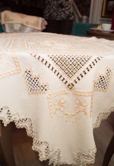 Beautiful needlecraft tablecloth made in by ArtOfEmbroidery