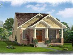 Bungalow House Plan, 046H-0116, 2/2, 1100sf good plan
