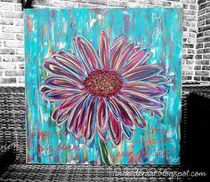"""""""Wees als een bloem en draai je gezicht naar Het Licht""""  Origineel schilderij van Tineke de Raat, 100 cm x 100 cm.  www.tinekederaat.blogspot.com"""