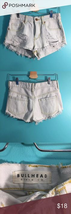 Pacsun Denim shorts Great condition! No problems at all. Size 5 high rise. Feel free to ask questions. PacSun Shorts Jean Shorts