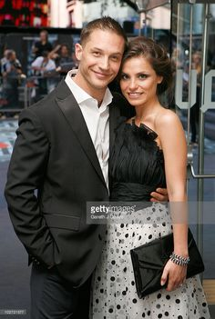 Tom Hardy and Charlotte Riley attend the UK film premiere of 'Inception' at the Odeon Leicester Square on July 8, 2010 in London, England.