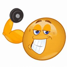 Pumping Iron - Facebook Symbols and Chat Emoticons