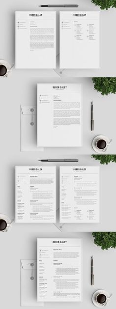 Resume/CV for Pages and InDesign Stationery Templates Pinterest - cv vs resume